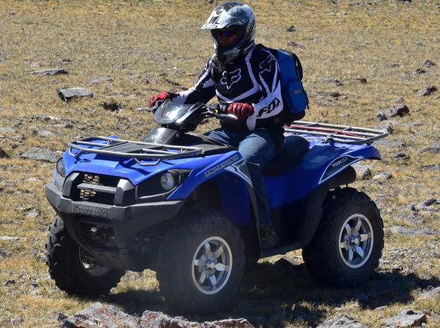 2014 Kawasaki Brute Force 750 EPS Action Left Front