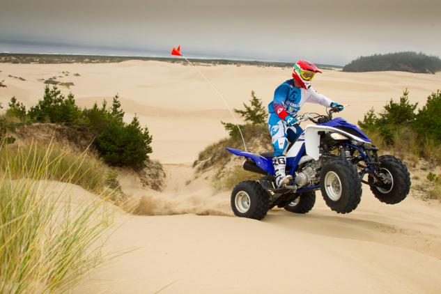 We are happy to report that Yamaha hasn't done anything to take away the grin factor the Raptor 700R always produces.