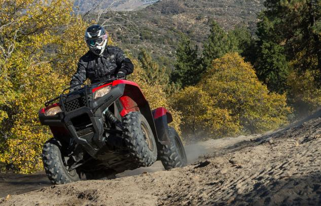 2015 Honda FourTrax Rancher Action 3