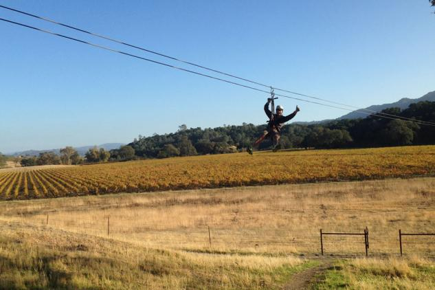 Ancient Peaks Winery Zip Line