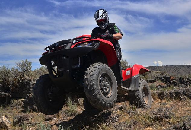 2014 Suzuki KingQuad 750 EPS Rock Crawling