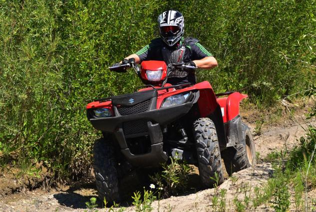 2014 Suzuki KingQuad 750 EPS Action Trail Riding