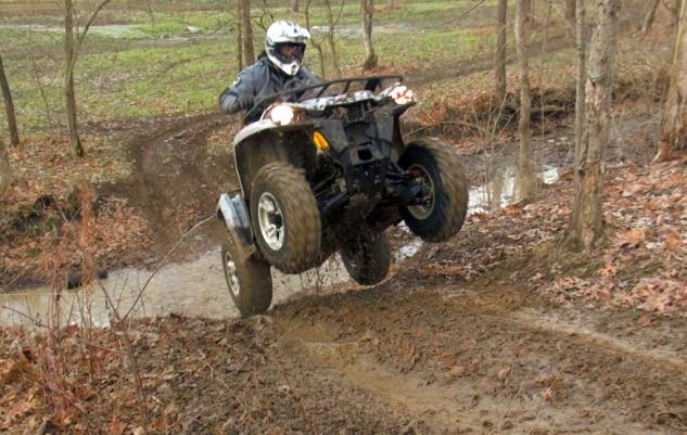 2015 Can-Am Outlander L 500 Action Wheelie