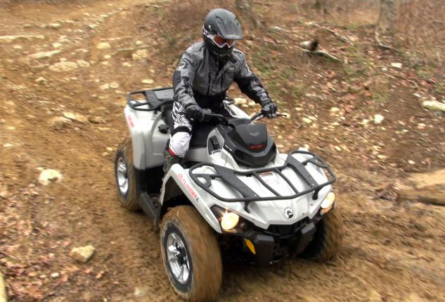 2015 Can-Am Outlander L 500 Action Overhead