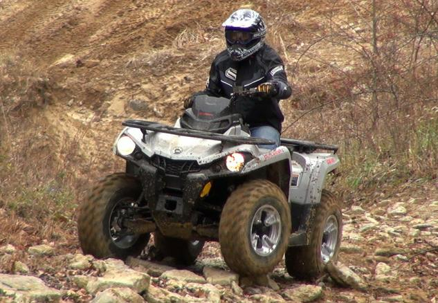 2015 Can-Am Outlander L 500 Action Rock Climbing