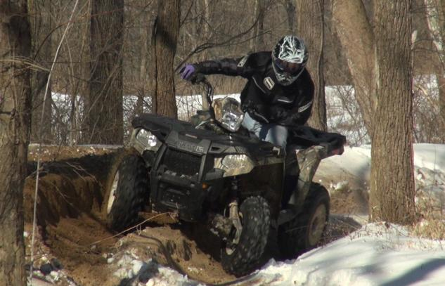 2015 Polaris Sportsman 570 Action Cornering