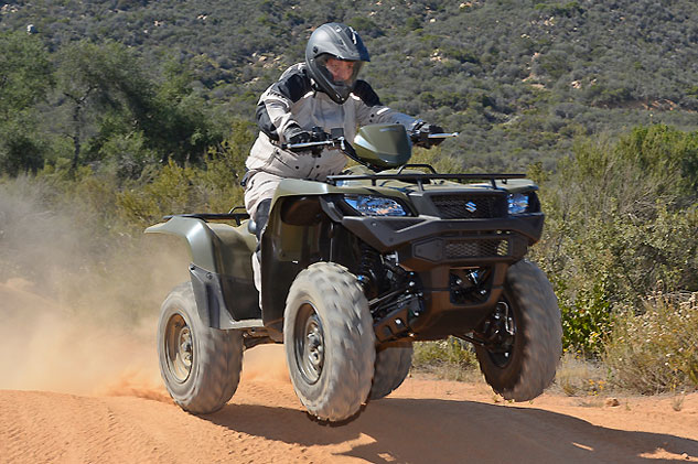 2015 Suzuki KingQuad 500 Action Wheelie