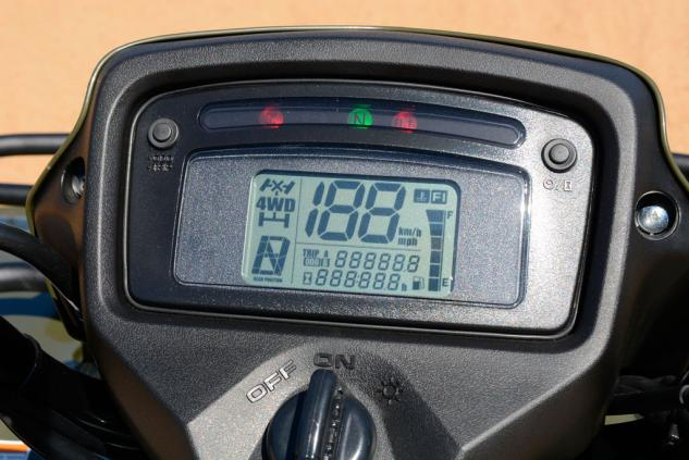 2015 Suzuki KingQuad 500 Info Display