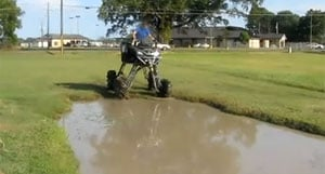 Largest Atv In The World Goes Swimming Video Atv Com