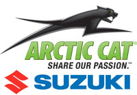 Arctic Cat and Suzuki Logos