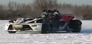 KTM X-BOW on the Ice and Snow