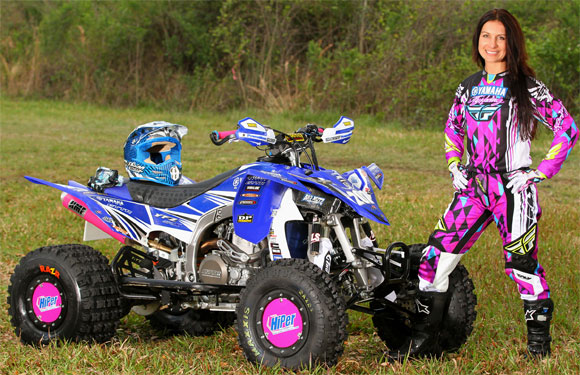 Traci Cecco Pickens with ATV