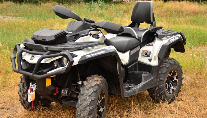 2013 can am outlander max 1000 ltd long term review for Yamaha kodiak 700 top speed