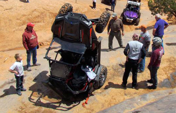 UTV Rock Crawling Accident