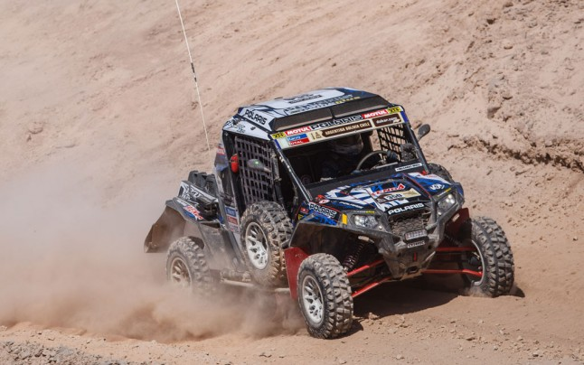 Willy Alcaraz Dakar Polaris RZR Action