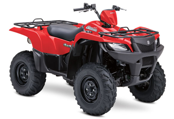 2015 Suzuki KingQuad 500AXi Red