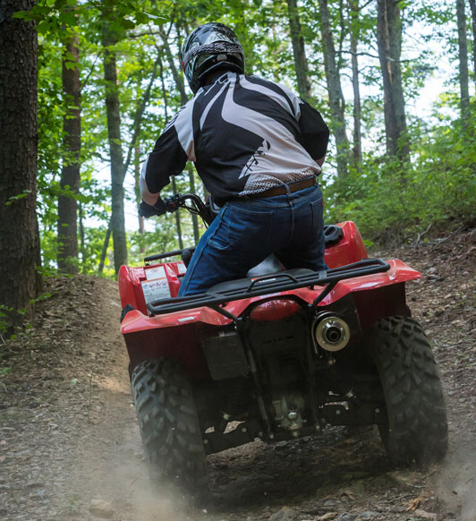 2016 Suzuki KingQuad 750 Action Rear
