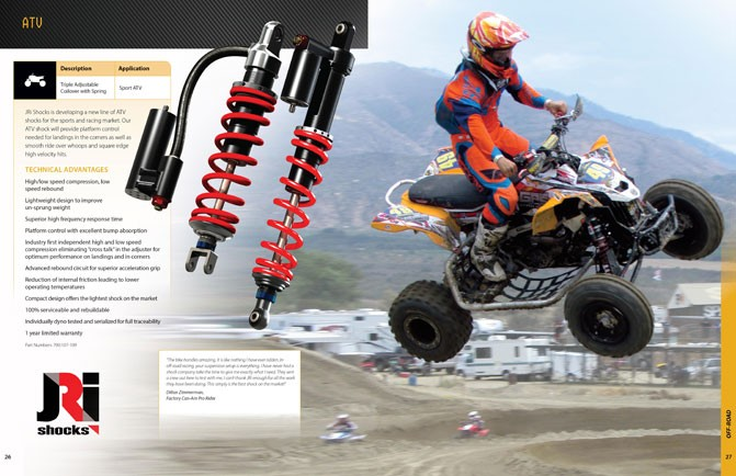ATV Shocks Catalog