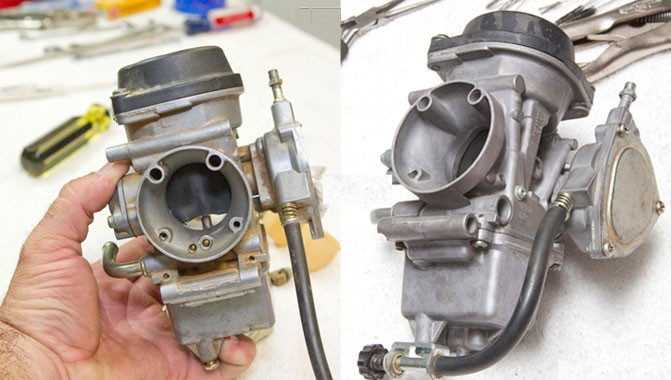 ATV Carb - Before and After