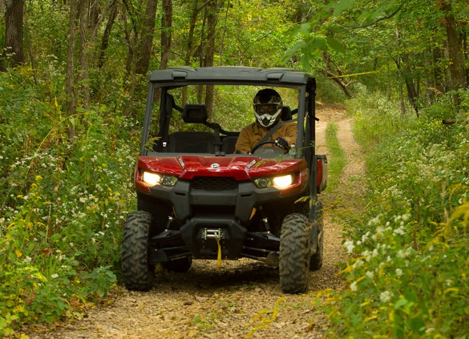 2016 Can-Am Defender HD8 Action Front