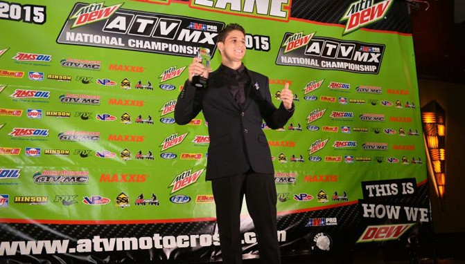 Nick Gennusa earned the AMA Pro Rookie of the Year Award.
