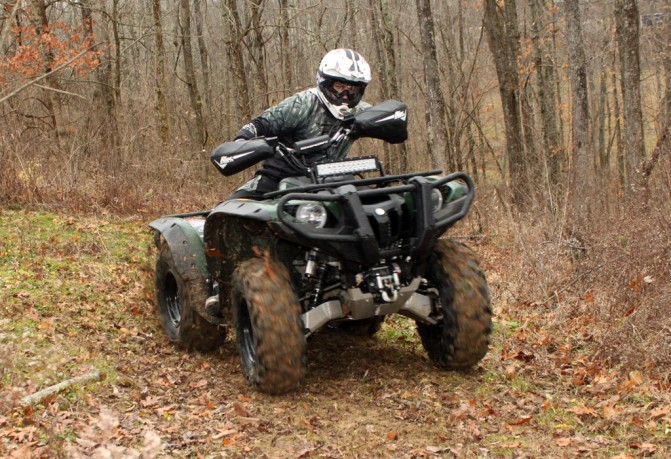 Yamaha Grizzly Project Action Cornering