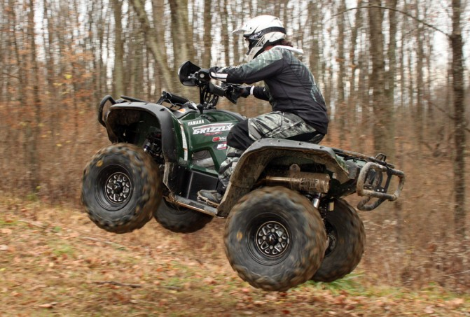 Yamaha Grizzly Project Action Jump