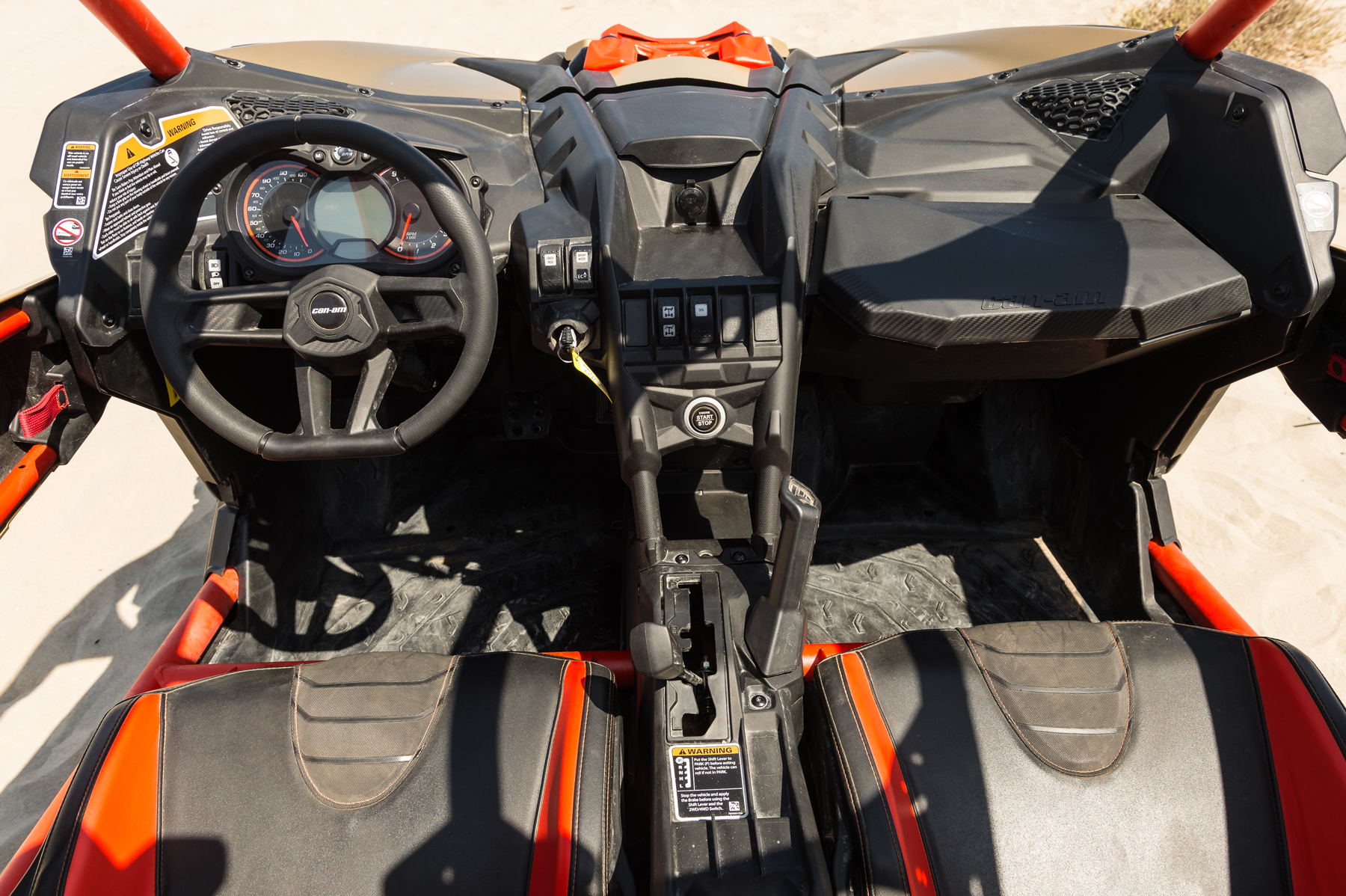 2017 Can-Am Maverick X3 X rs Turbo Cockpit
