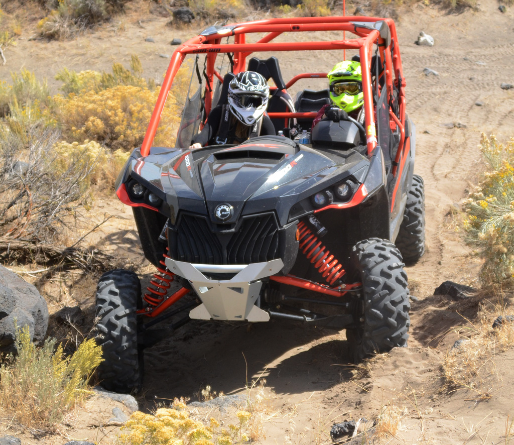 2016 Can-Am Maverick MAX Turbo Action Front