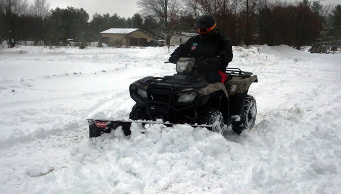 Five Tips For Plowing Snow With Your Atv Or Utv Atv Com