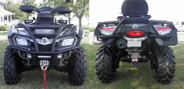 Can-Am Outlander MAX 650 XT Front Back