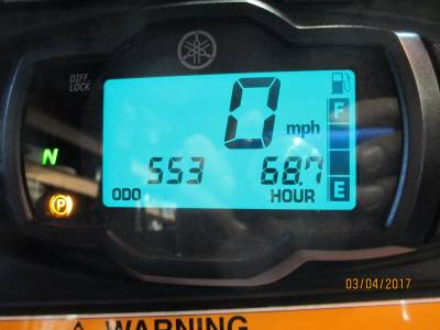 Yamaha Viking VI Info Display