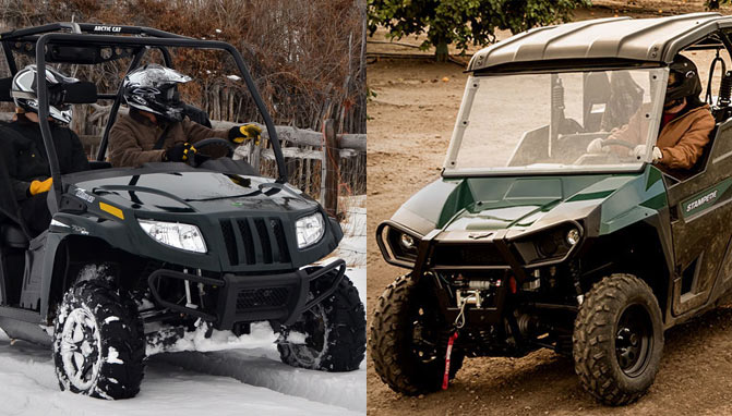 2017 Textron Stampede Vs Arctic Cat Hdx 700 By The Numbers
