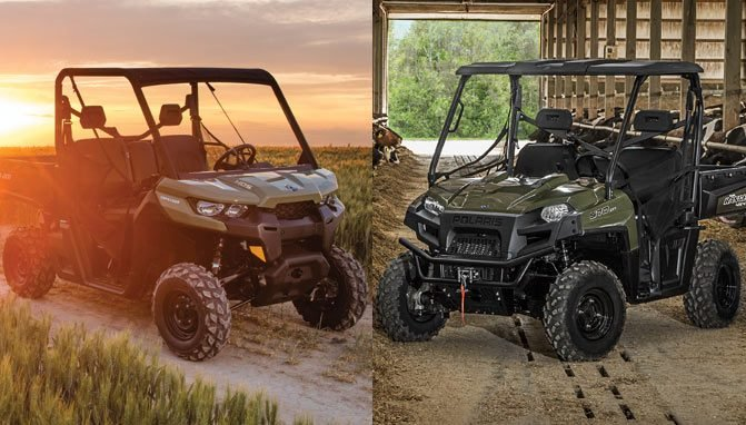 2017 Can Am Defender Hd5 Vs Polaris Ranger 570 By The Numbers Atv