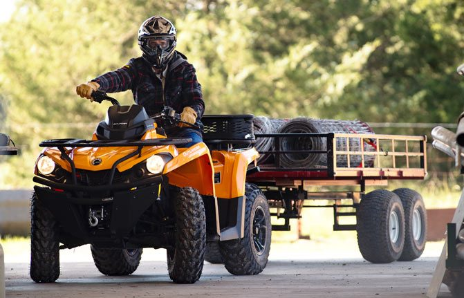 Can-Am Outlander 450 Towing
