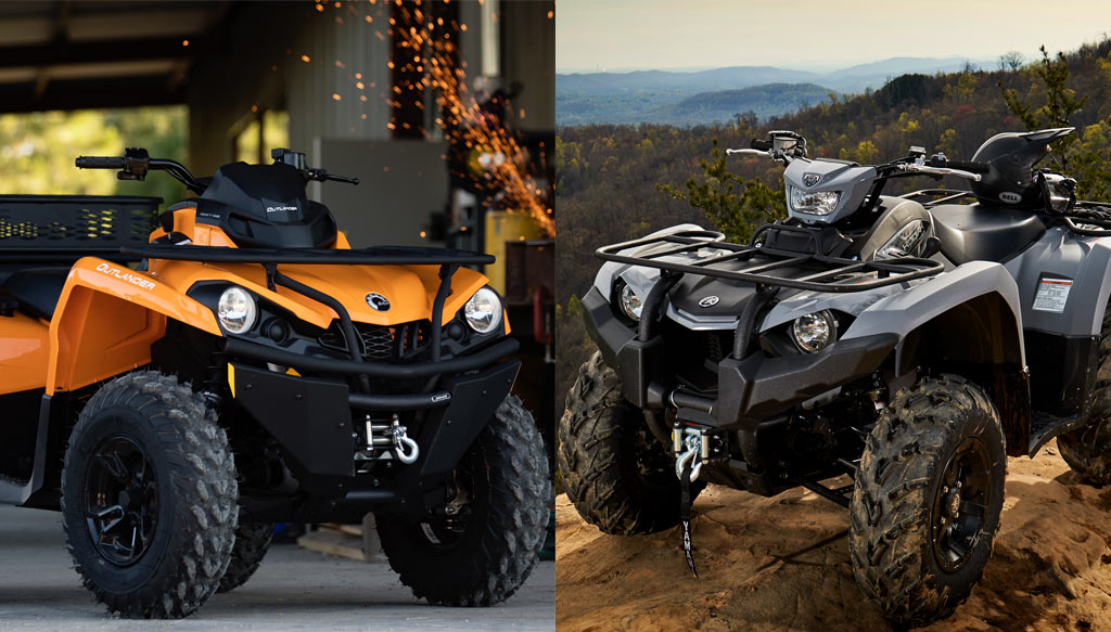 Yfz450 For Sale >> 2018 Yamaha Kodiak 450 EPS vs. Can-Am Outlander 450 DPS ...
