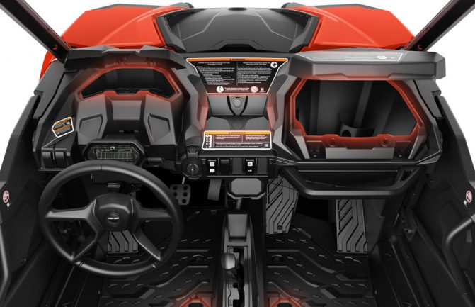 2018 Can-Am Maverick Trail DPS Cockpit