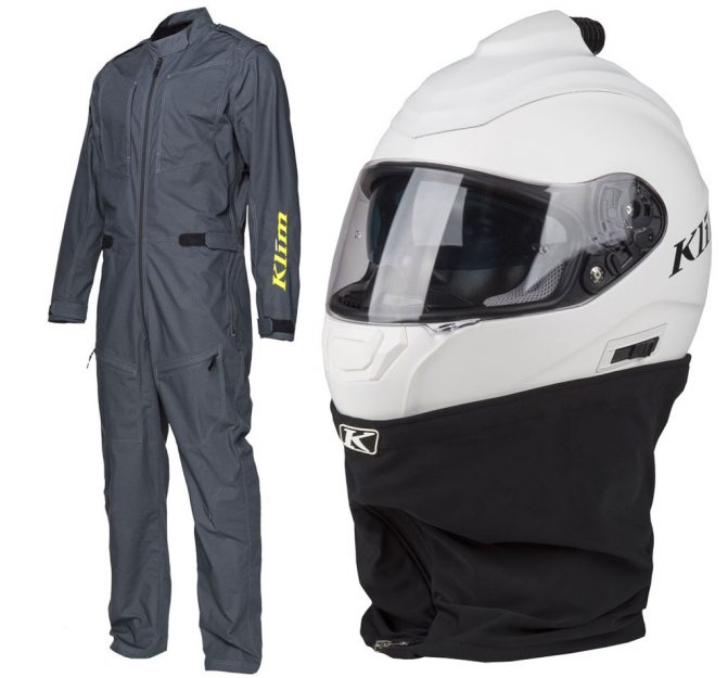Klim Terra Firma Dust Suit and R1 Fresh Air Helmet