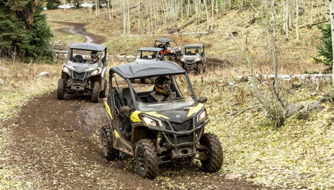 2018 Can-Am Maverick Trail 1000 Action 3
