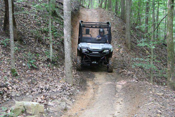 Honda Pioneer 700-4 Trail Riding