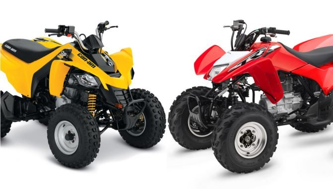 2018 Can Am Ds 250 Vs Honda Trx250x By The Numbers Atv Com