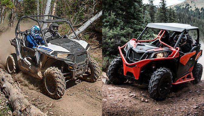 2018 Can-Am Maverick Trail 1000 DPS and Polaris RZR 900 EPS