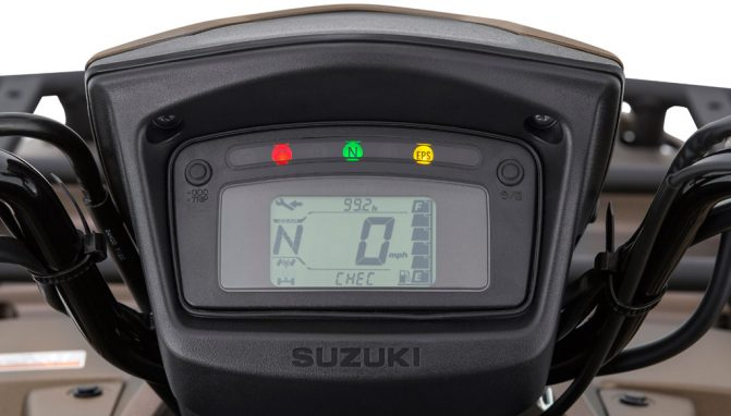 2019 Suzuki KingQuad Info Display