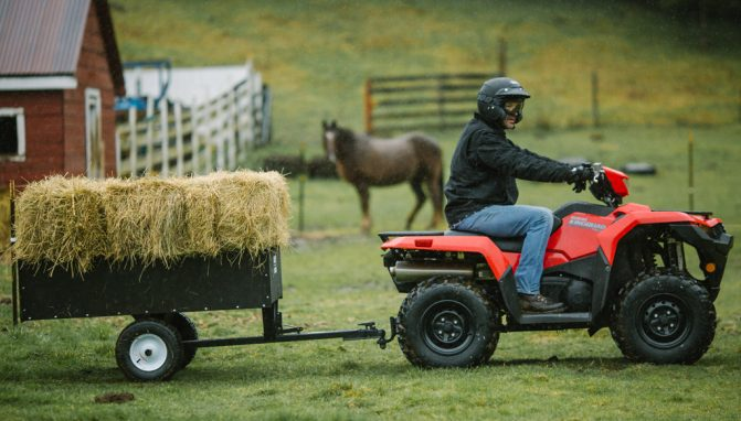 2019 Suzuki KingQuad Towing