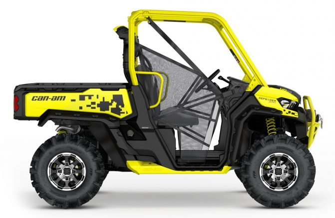 2019 Can-Am Defender X Yellow Profile