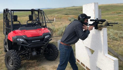 Long Range Rifle Shooting with the Honda Pioneer