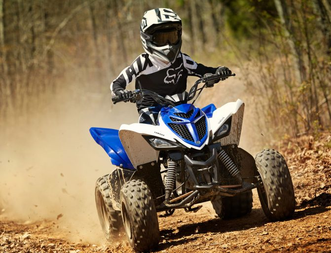 2019 Yamaha Raptor 90 Action