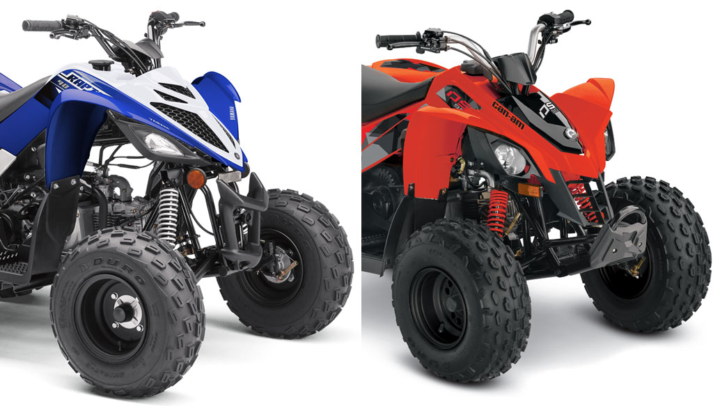Can Am Maverick 1000 Turbo >> 2019 Yamaha Raptor 90 vs. 2019 Can-Am DS90: By the Numbers ...