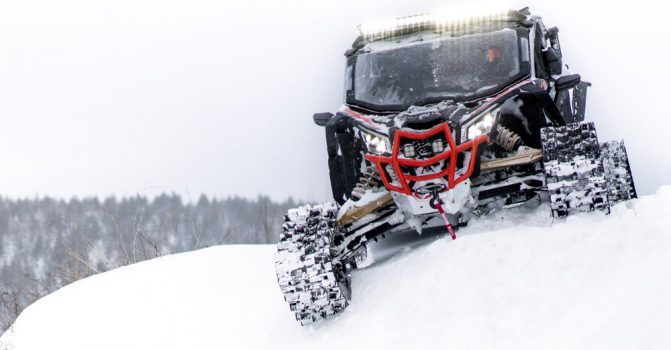 New Can-Am Apache Backcountry Tracks Designed for Deep ...