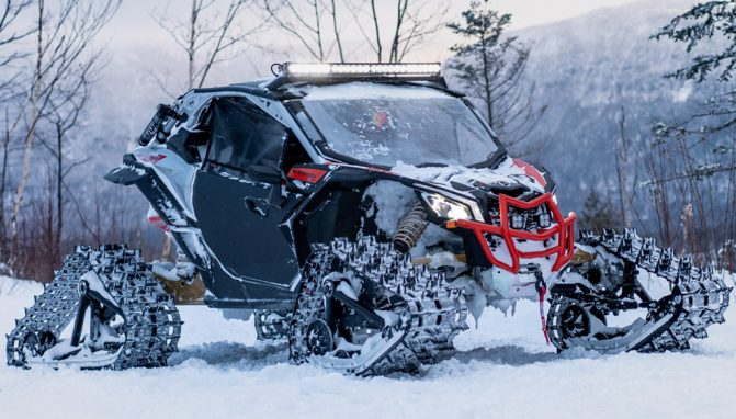 New Can Am Apache Backcountry Tracks Designed For Deep